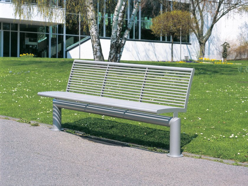 Stainless steel Bench with back SIARDO L 40 R | Bench with back by BENKERT BÄNKE