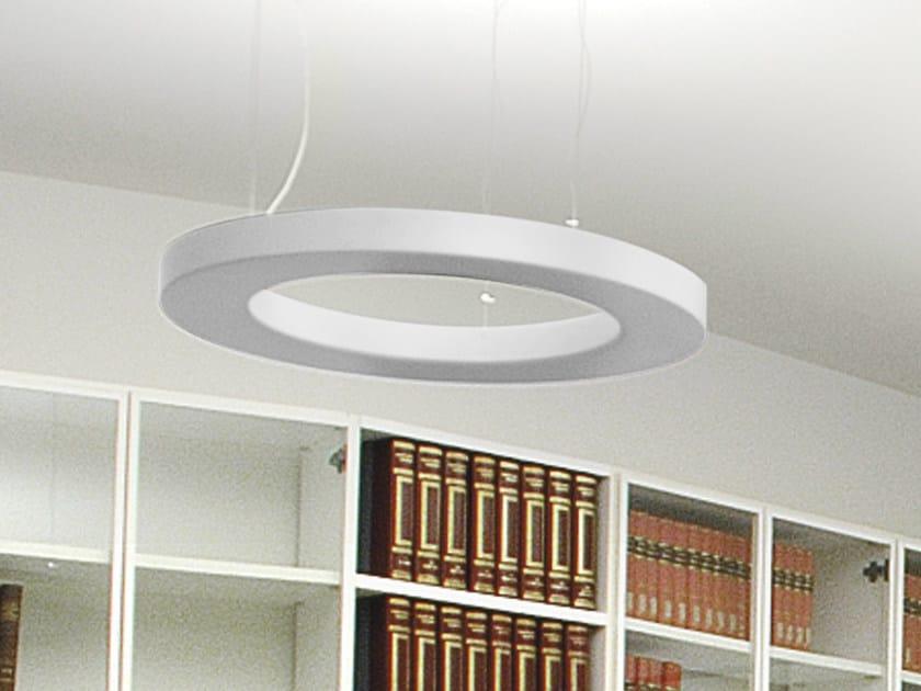 Indirect light fluorescent pendant lamp CIRCULAR | Indirect light pendant lamp by Martinelli Luce
