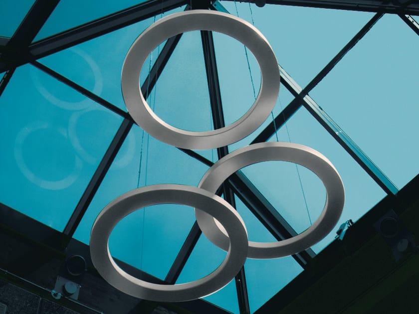 Indirect light aluminium pendant lamp CIRCULAR   Aluminium pendant lamp by Martinelli Luce