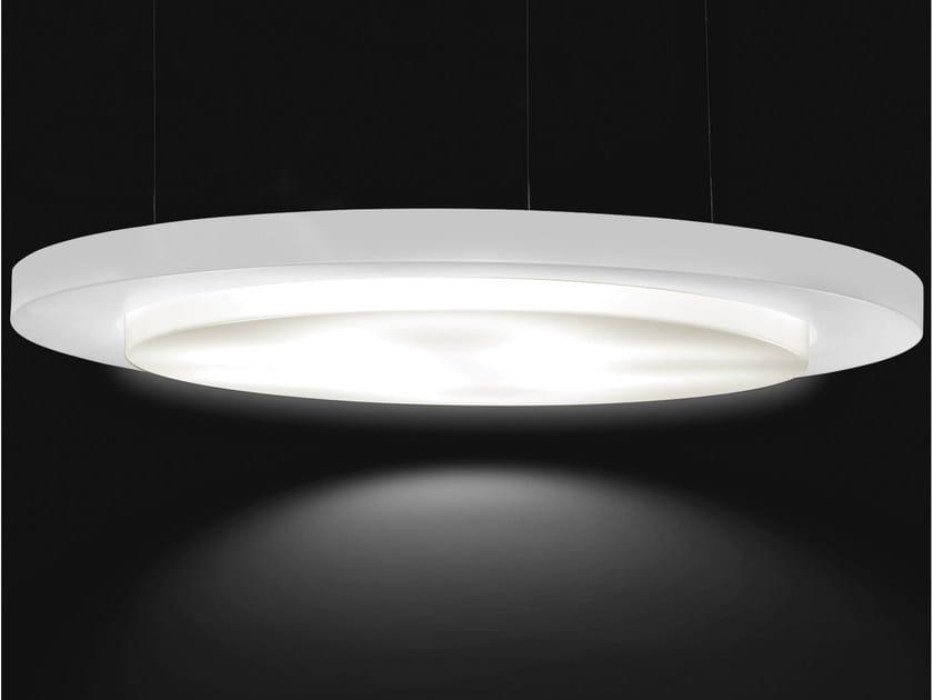 Direct-indirect light aluminium pendant lamp CIRCULAR | Metal pendant lamp by Martinelli Luce