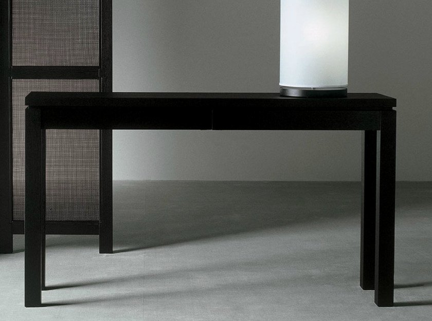 Rectangular wooden console table with drawers DOUGLAS | Console table by Meridiani