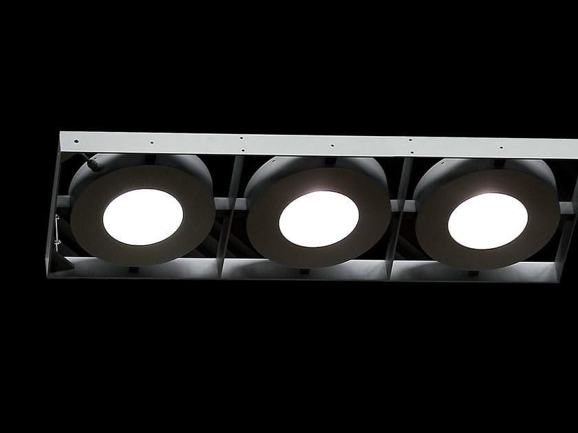 Aluminium pendant lamp 3 GATE by Martinelli Luce