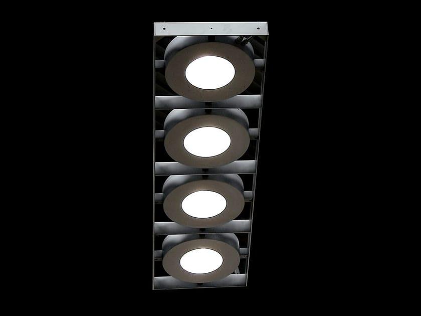 Direct light aluminium pendant lamp 4 GATE by Martinelli Luce