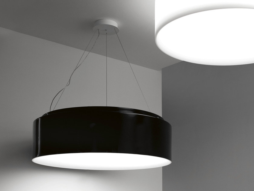 Fluorescent polyethylene pendant lamp HOLE - LIGHT | Steel pendant lamp by Martinelli Luce