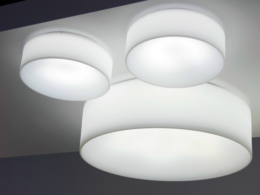 Fluorescent ceiling lamp HOLE - LIGHT | Fluorescent ceiling lamp by Martinelli Luce