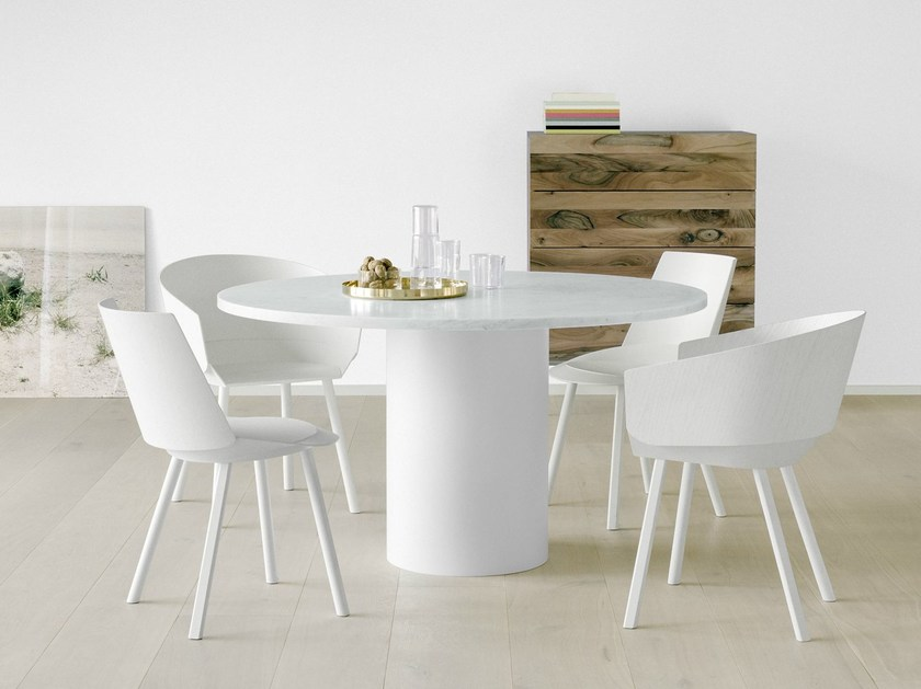 Marble dining table HIROKI by e15