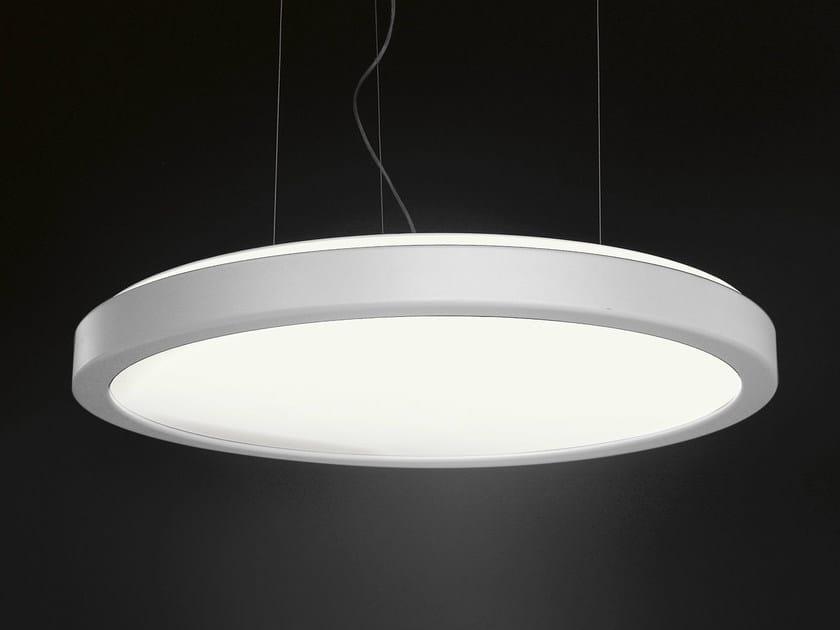 Fluorescent pendant lamp LUNA | Aluminium pendant lamp by Martinelli Luce