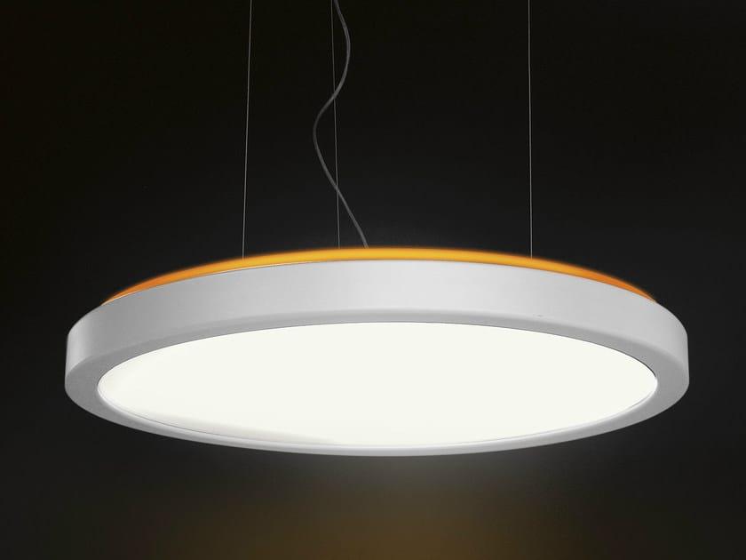Fluorescent aluminium pendant lamp LUNA by Martinelli Luce