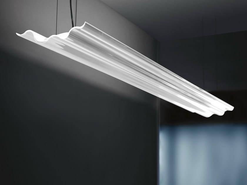 Indirect light extruded aluminium pendant lamp NEMATODA by Martinelli Luce