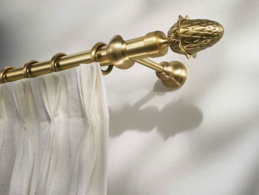 Classic style brass curtain rod MERCURIO by Scaglioni