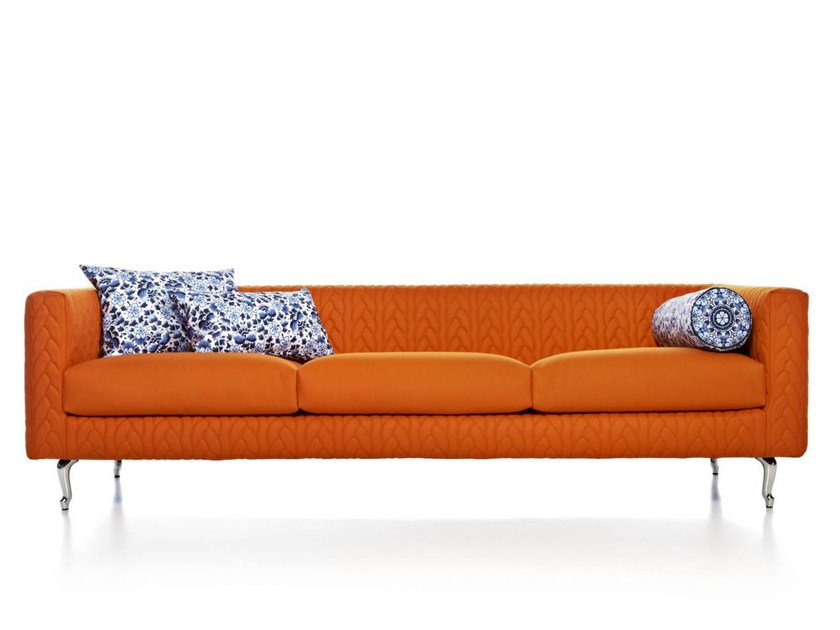 Polyester sofa DELFT BLUE JUMPER by moooi