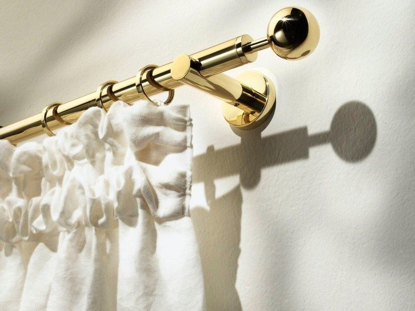 Classic style brass curtain rod PALLADE by Scaglioni