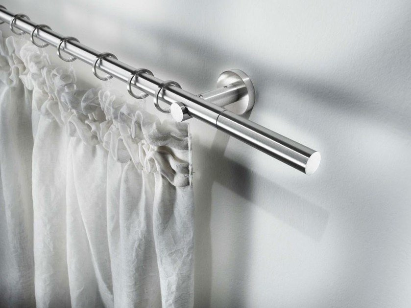 Contemporary style steel curtain rod SIRIO by Scaglioni
