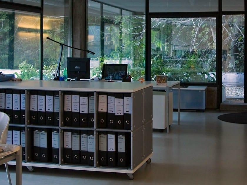 Open Modular aluminium office shelving BOX by Martinelli Luce