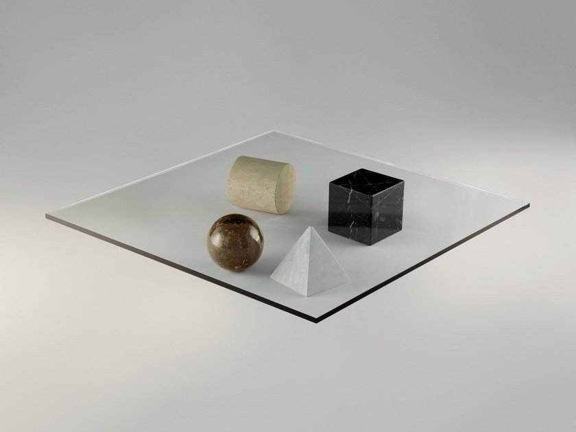 Low square coffee table METAFORA by Martinelli Luce