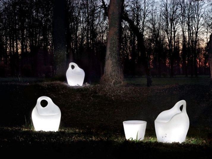 Garden armchair with light BABA' LIGHT by DOMITALIA