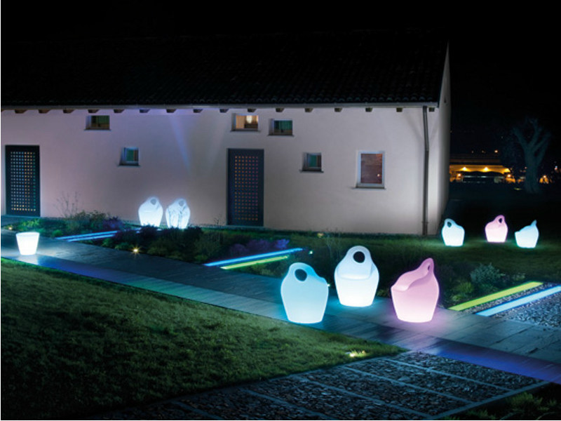 Plastic garden armchair with light BABA' JR LIGHT by DOMITALIA