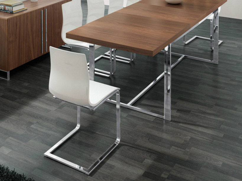 Cantilever plastic chair GEL-SL by DOMITALIA