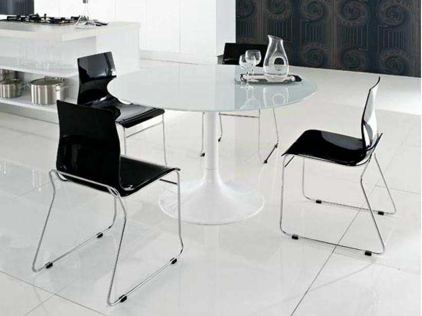 Sled base plastic chair GEL-T by DOMITALIA