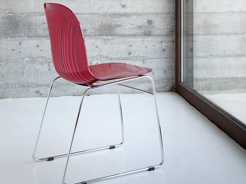 Sled base plastic chair PLAYA-T by DOMITALIA