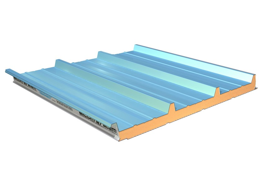 Insulated metal panel for roof TERMOCOPERTURE® RP/ST 4G by ELCOM SYSTEM