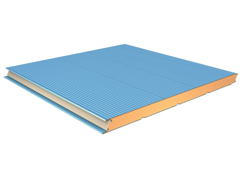 Insulated metal panel for facade TERMOPARETI® WPM/C-FN by ELCOM SYSTEM