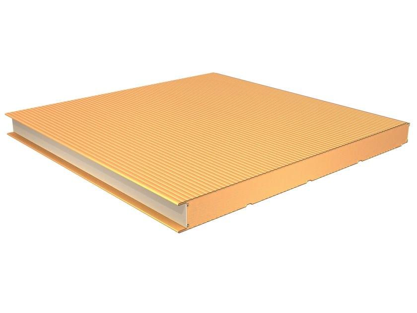 Insulated metal panel for facade TERMOPARETI® WPM/C by ELCOM SYSTEM