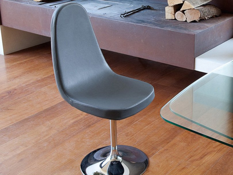 Swivel upholstered chair BLADE-P by DOMITALIA