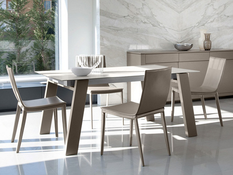 Lacquered steel chair MITO by DOMITALIA