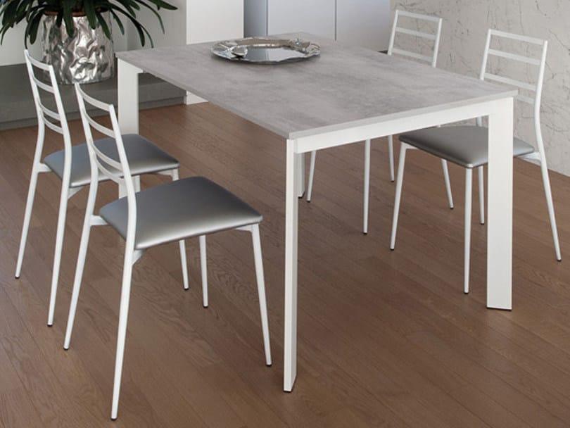 Upholstered steel chair SLIM by DOMITALIA