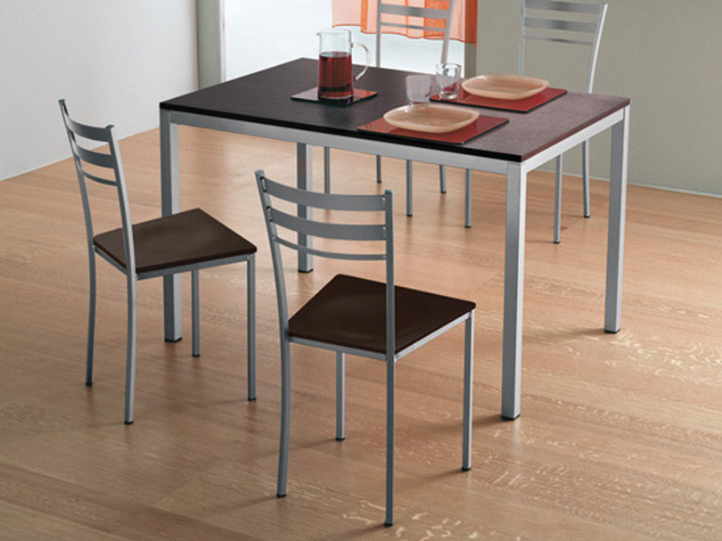 Steel and wood chair TIP-1 by DOMITALIA