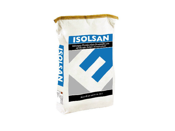 Renovating and de-humidifying additive and plaster ISOLSAN by EDILTECO
