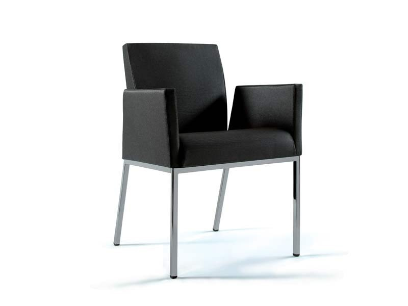 Leather easy chair with armrests LOUNGE | Easy chair by MASCAGNI