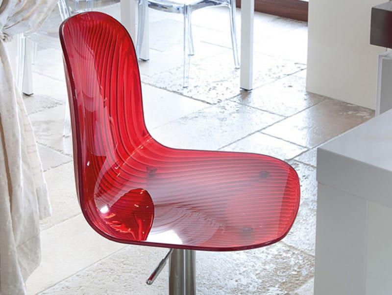 Height-adjustable high swivel plastic stool PLAYA-SGQ by DOMITALIA