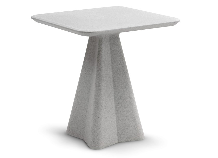 Low square polyethylene coffee table COMPASS by DOMITALIA