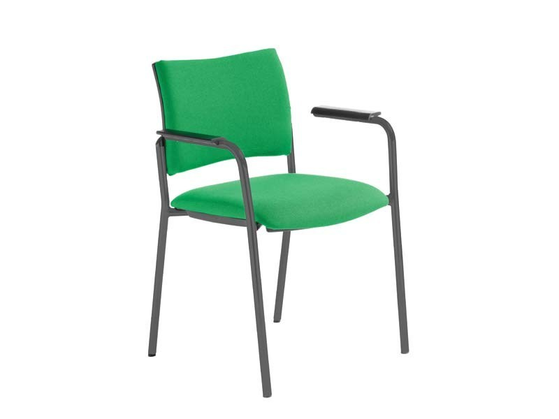 Upholstered reception chair with armrests DYNAMICA | Chair with armrests by MASCAGNI
