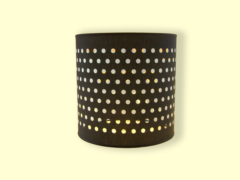 Drum shaped fabric lampshade HI-TECH | Drum shaped lampshade by Ipsilon PARALUMI