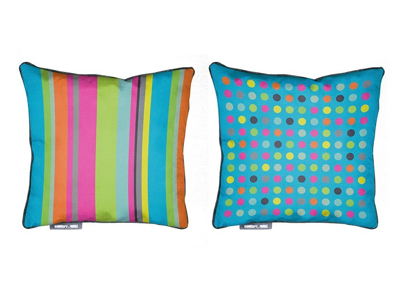 Square fabric cushion RAYURE by CONCEPTUWALL