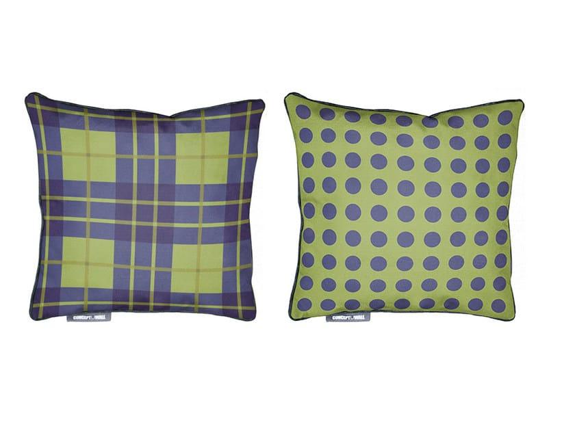 Square fabric cushion TARTAN by CONCEPTUWALL