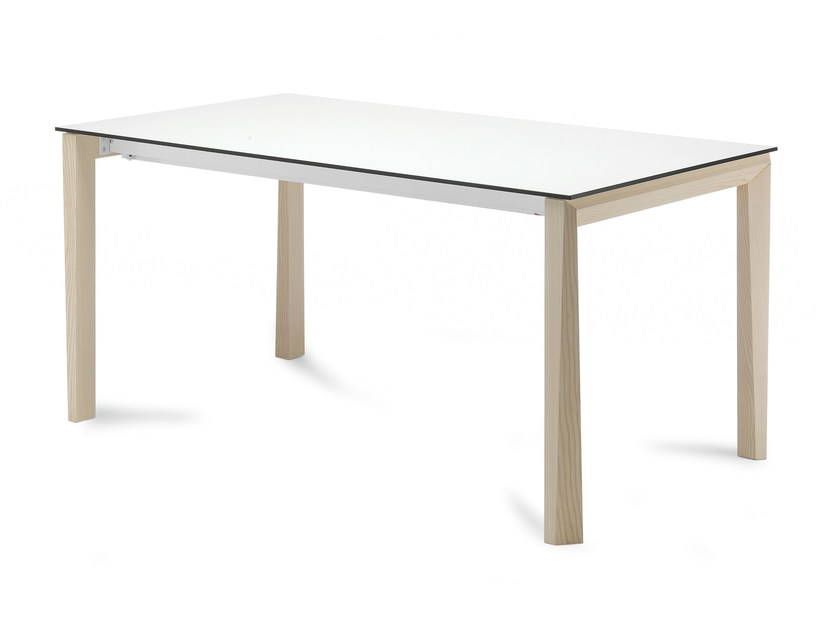 Extending rectangular wooden table UNIVERSE 130 | Wooden table by DOMITALIA