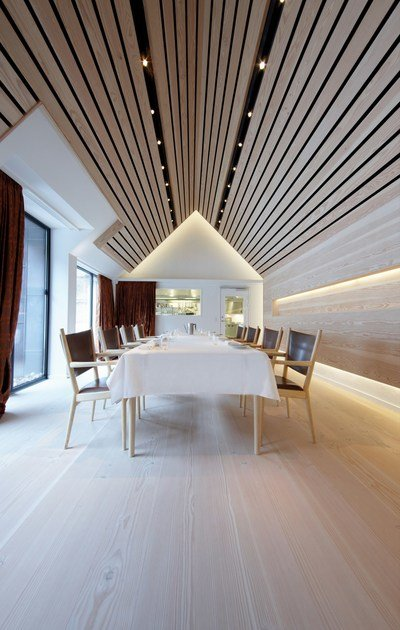 paneele f r abgeh ngte decken mit holz effekt dinesen ceiling by dinesen. Black Bedroom Furniture Sets. Home Design Ideas