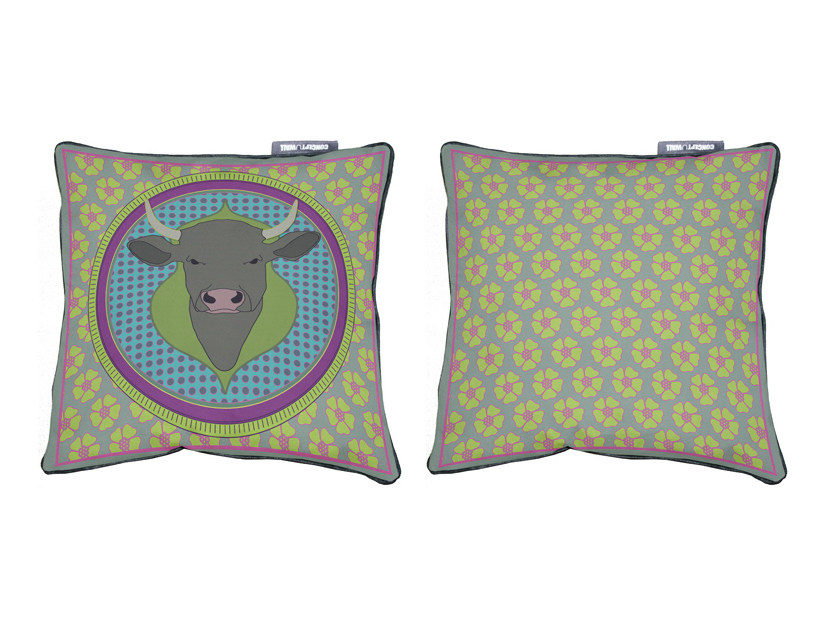 Square fabric cushion PAQUITA by CONCEPTUWALL