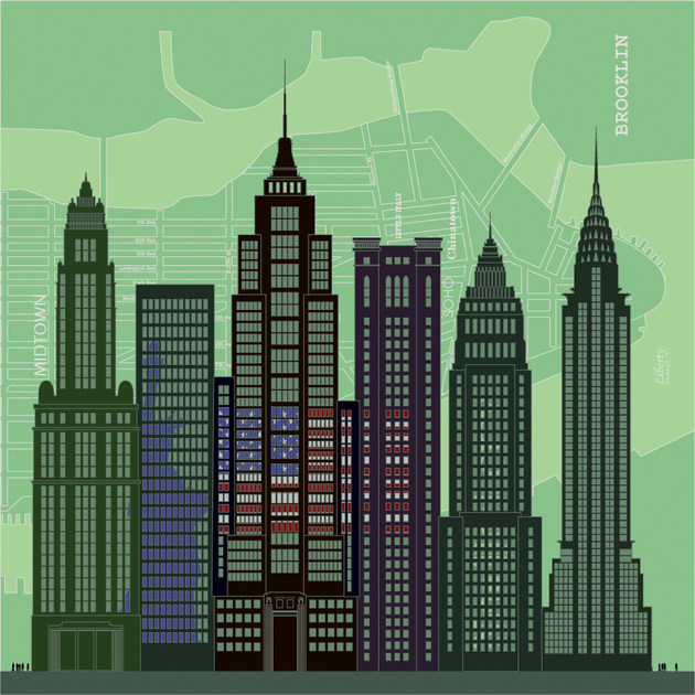 Non-woven paper decorative painting NEW YORK CITY by CONCEPTUWALL