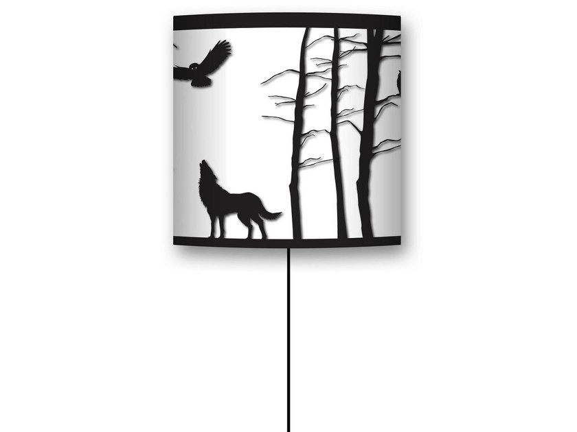 Drum shaped lampshade FÔRET ENCHANTÉE by CONCEPTUWALL