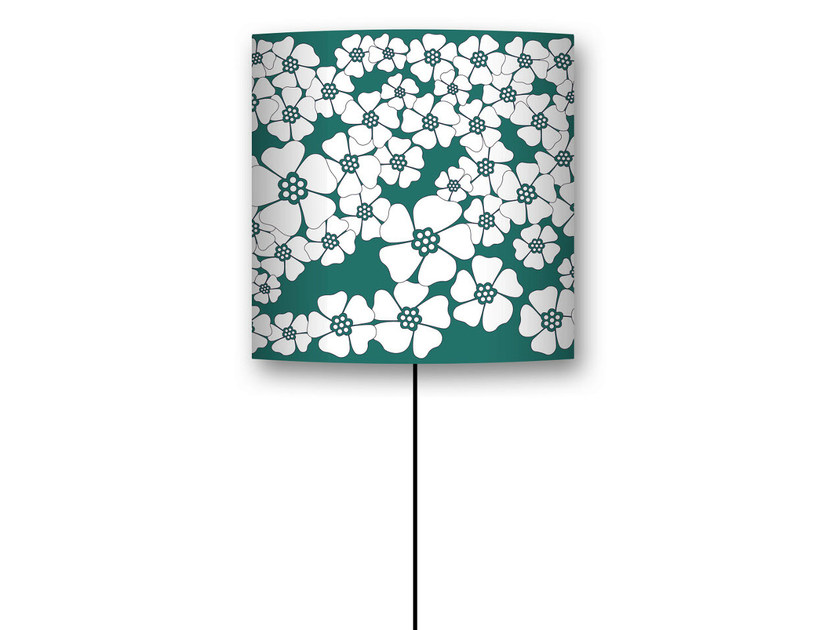 Drum shaped lampshade CHAMP DE FLEURS by CONCEPTUWALL