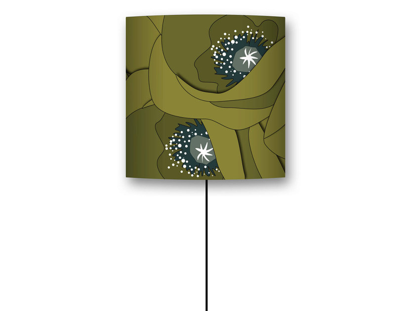 Drum shaped lampshade COQUELICOT by CONCEPTUWALL