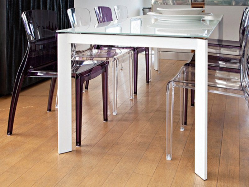 Extending rectangular dining table UNIVERSE 110 by DOMITALIA