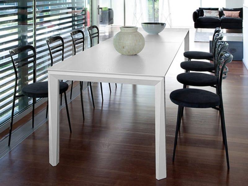 Extending rectangular steel table UNIVERSE 160 | Steel table by DOMITALIA
