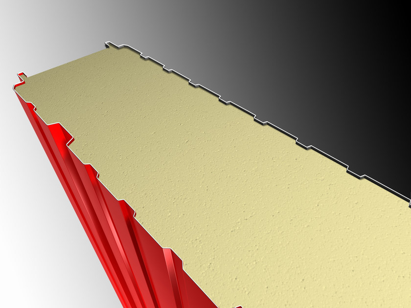 Insulated metal panel for facade ALFA 1 by IsolPack