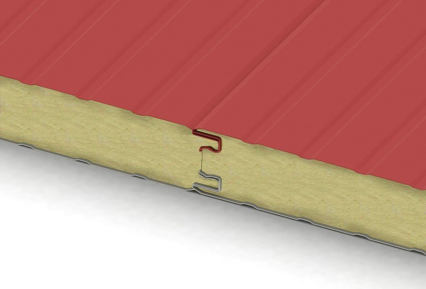 Insulated metal panel for roof / Insulated metal panel for facade ECOLINE FIBERMET by IsolPack